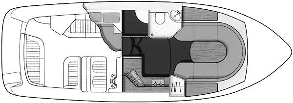 Sealine S28 - Manufacturer Provided Image - cabin layout