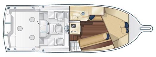 Pursuit 3000 Offshore - Floorplan