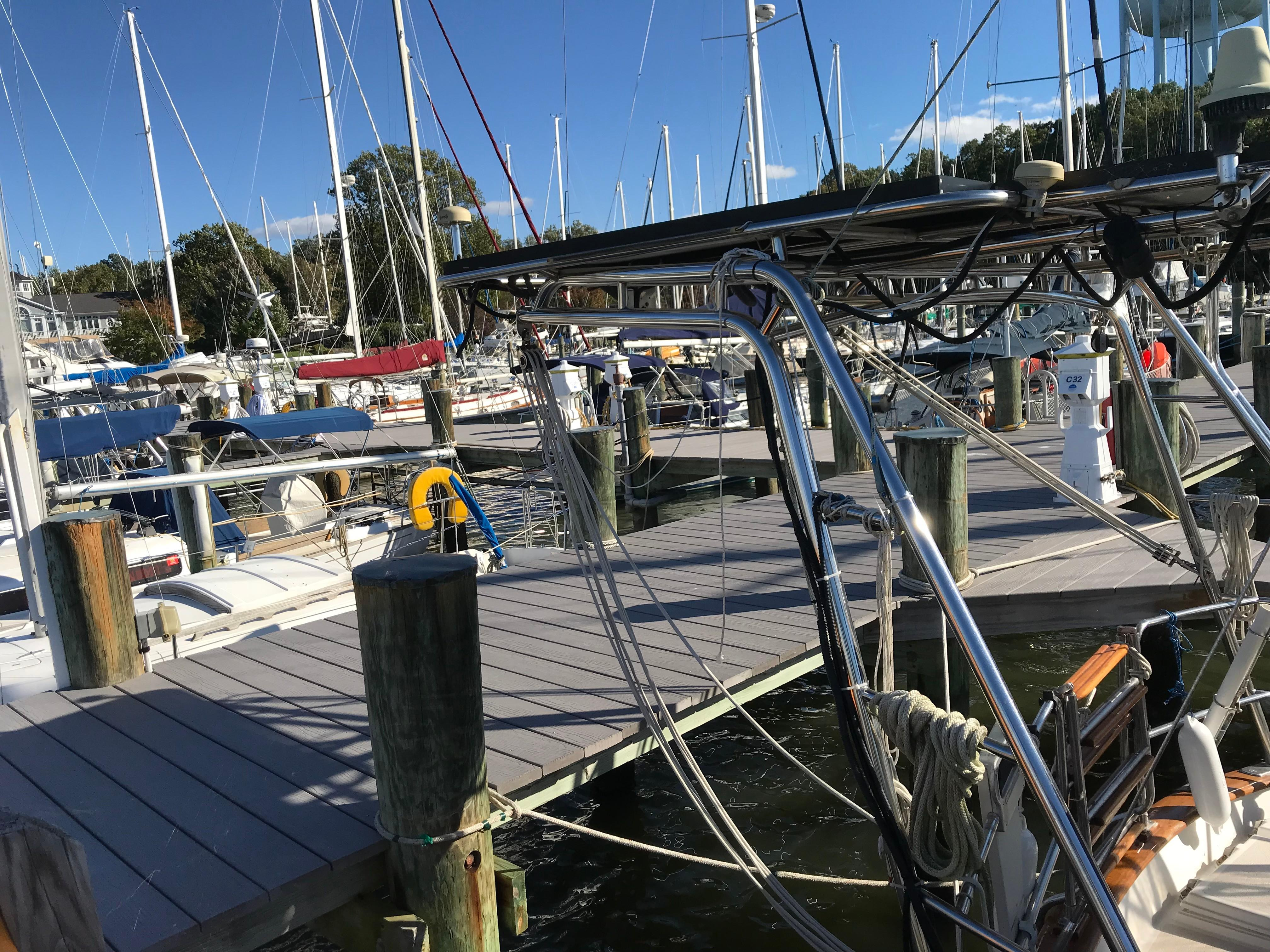 Stainless Davits and solar