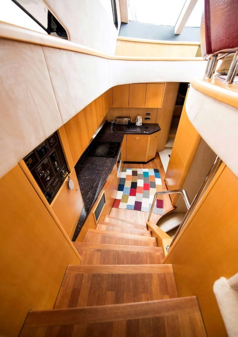 Wooden Stairway to Galley