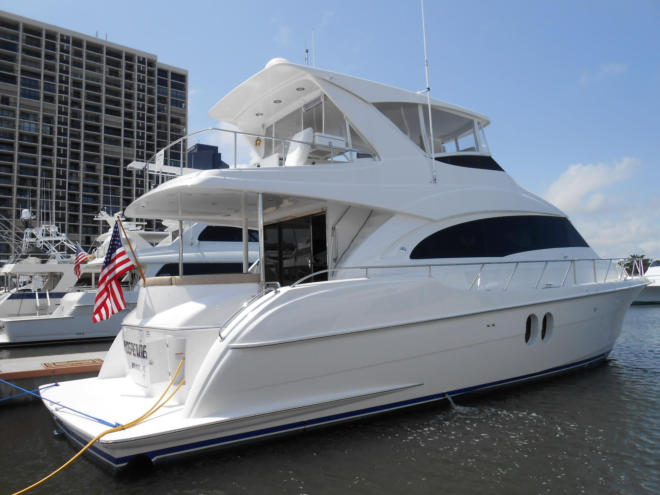 60 hatteras 2011 independence for sale in west palm beach for Large motor yachts for sale