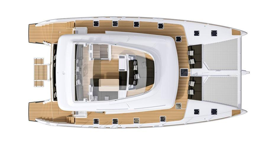 Manufacturer Provided Image: Lagoon 630 Flybridge Layout Plan
