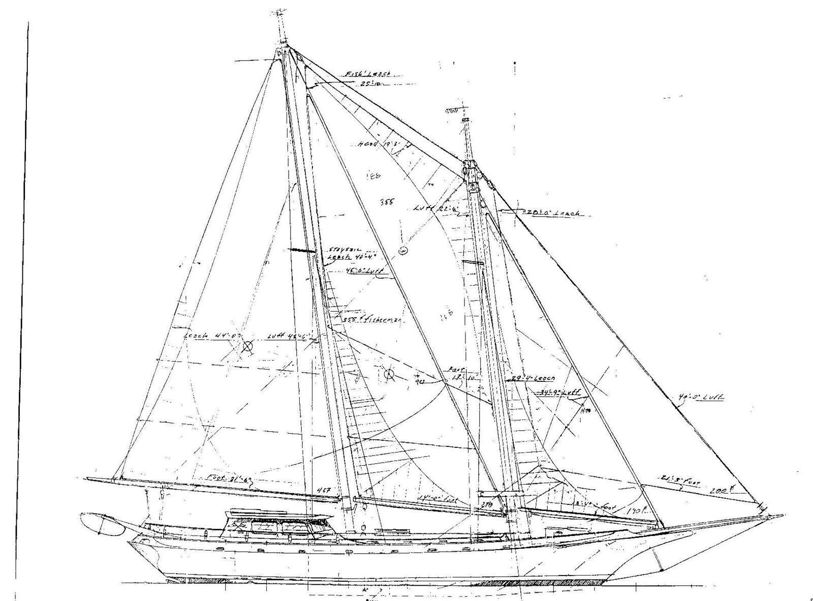 Royal marine yacht sales 2008 william garden schooner for William garden sailboat designs