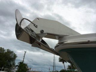 Fiberglass Hardtop With Standard PFD Storage, Radio, Speakers, Spreader Lights, LED Lights, Five Rod Holders, Two Kingfish Rod Holders, And Patented Hydraulic Sliding Windshield