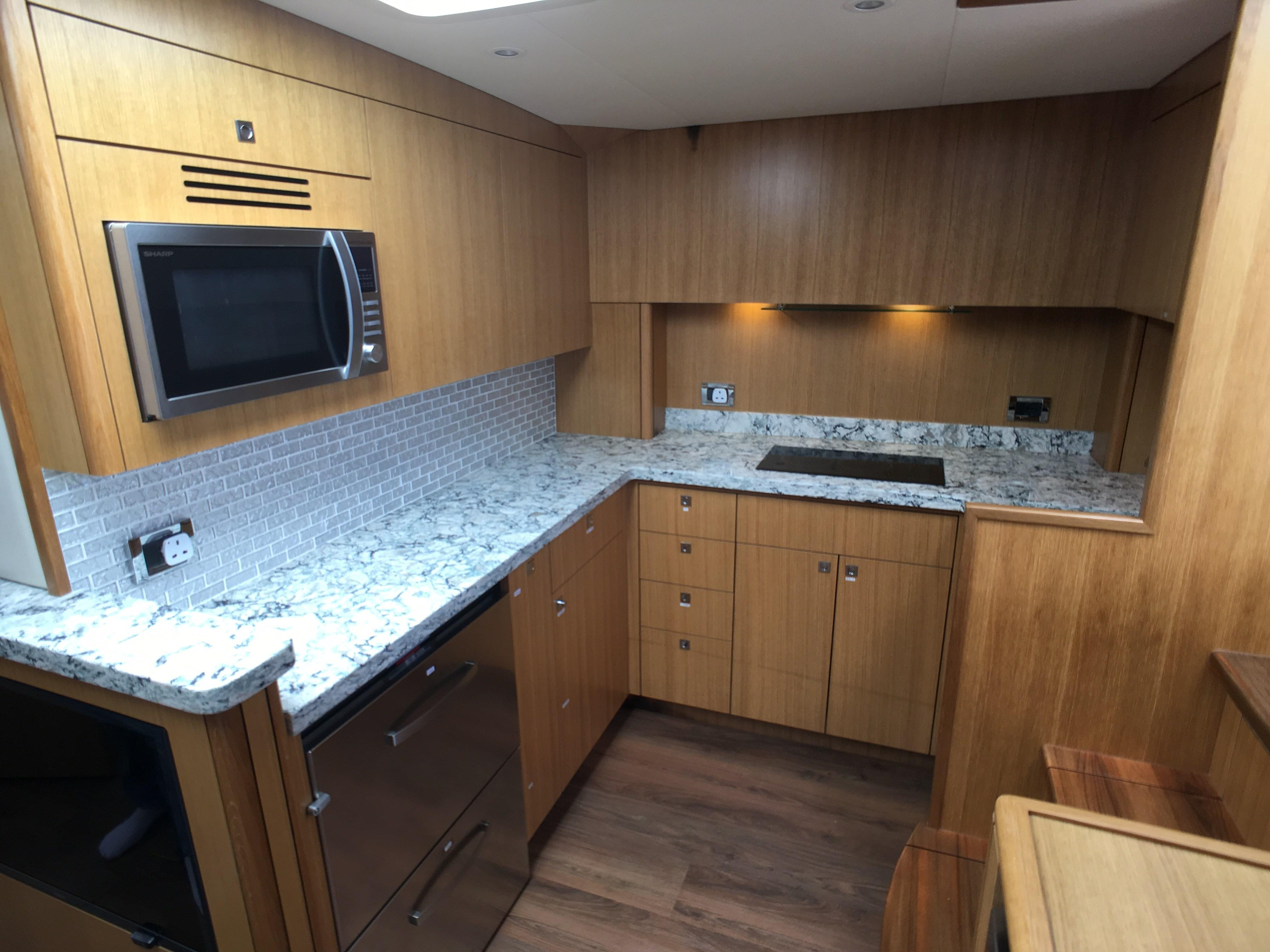 Hatteras 45 Galley