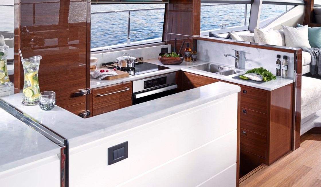 Manufacturer Provided Image: Princess 68 Galley