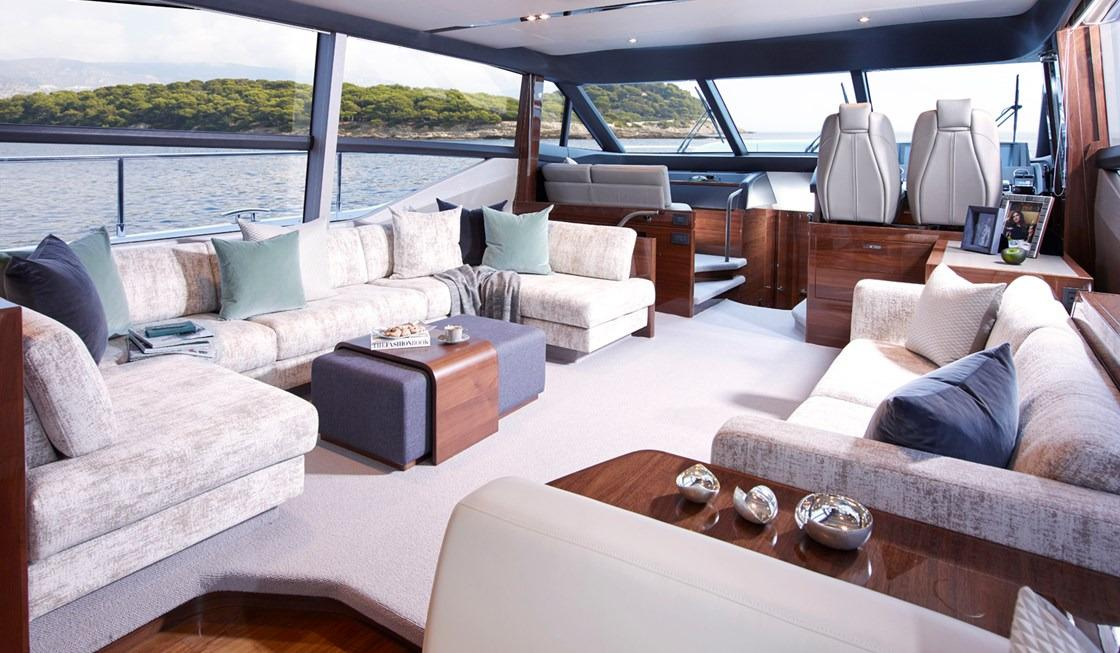Manufacturer Provided Image: Princess 68 Saloon Seating Area