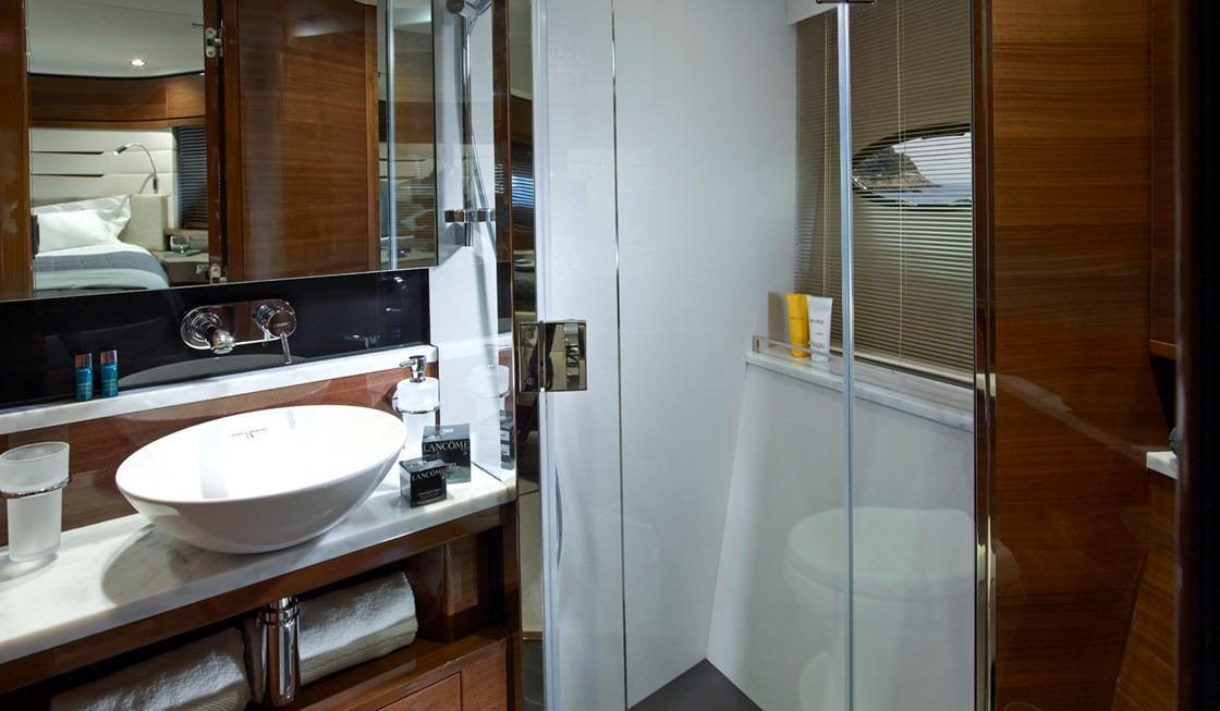 Manufacturer Provided Image: Princess 68 Forward Bathroom