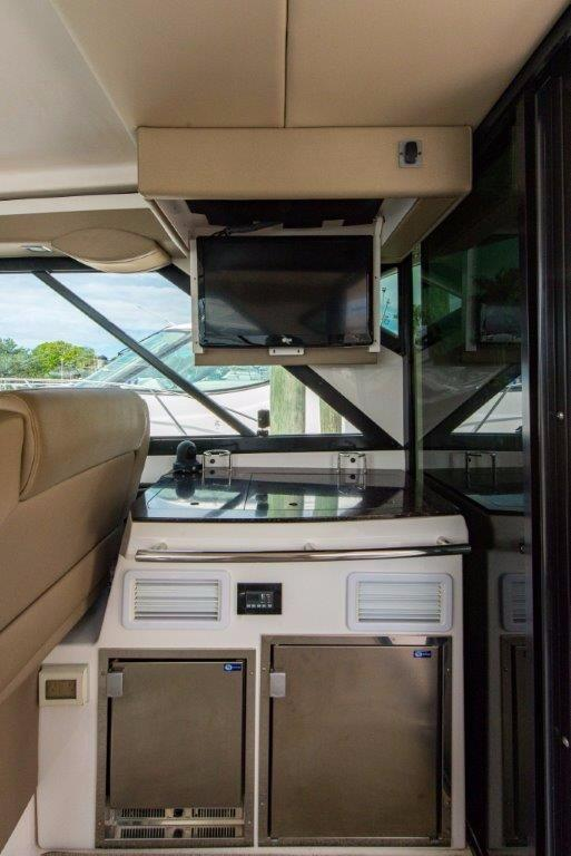 Helm Deck Grill Area with TV