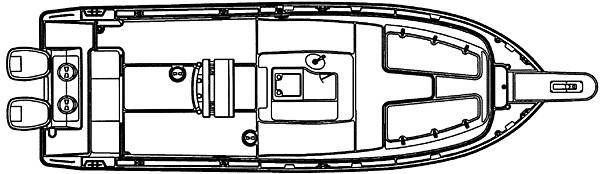 Pursuit 2470 Center Console deck plan