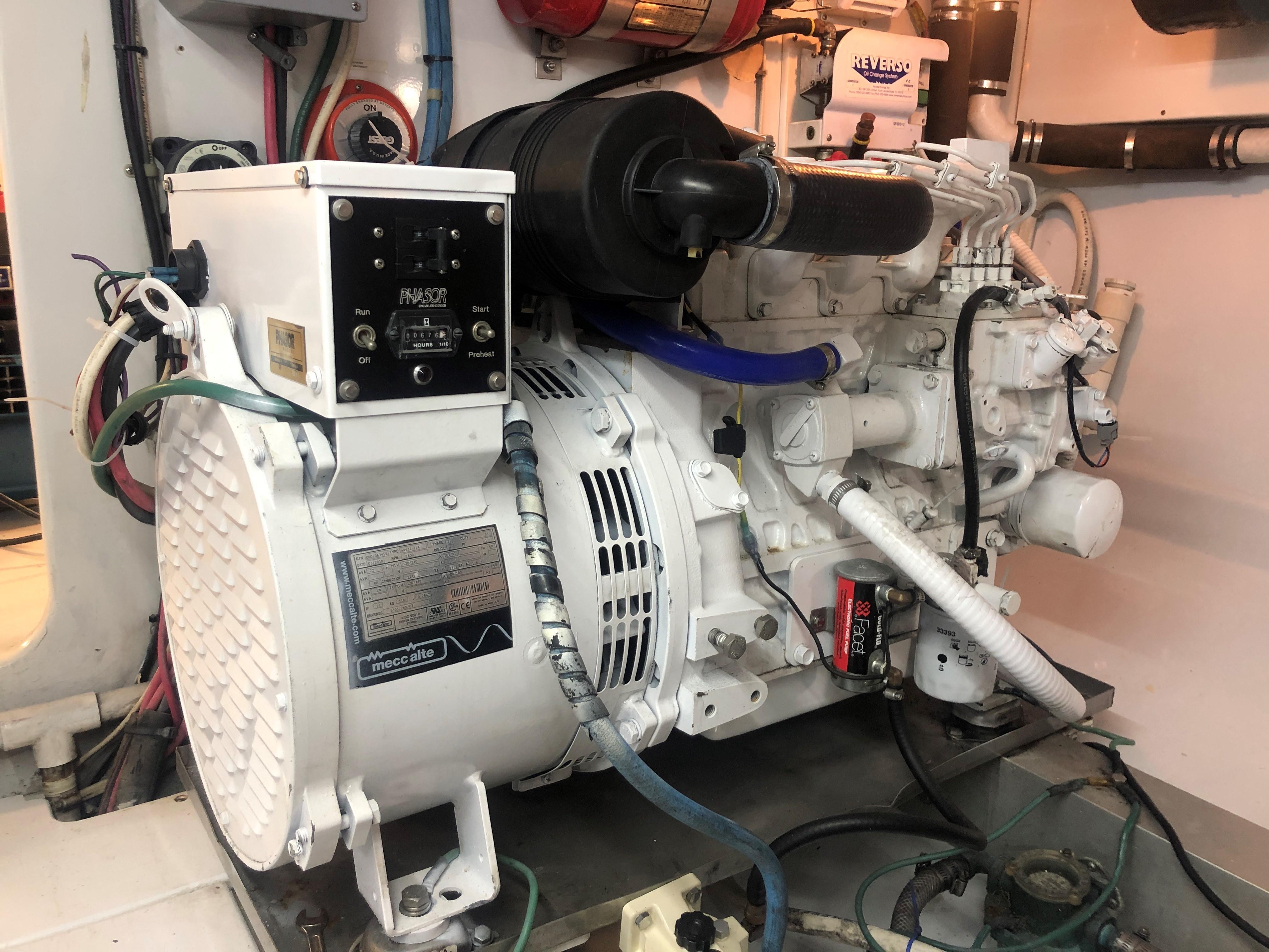 1996 60' Jim Smith Custom Sportfisherman Updated Phasor 21 KW Generator