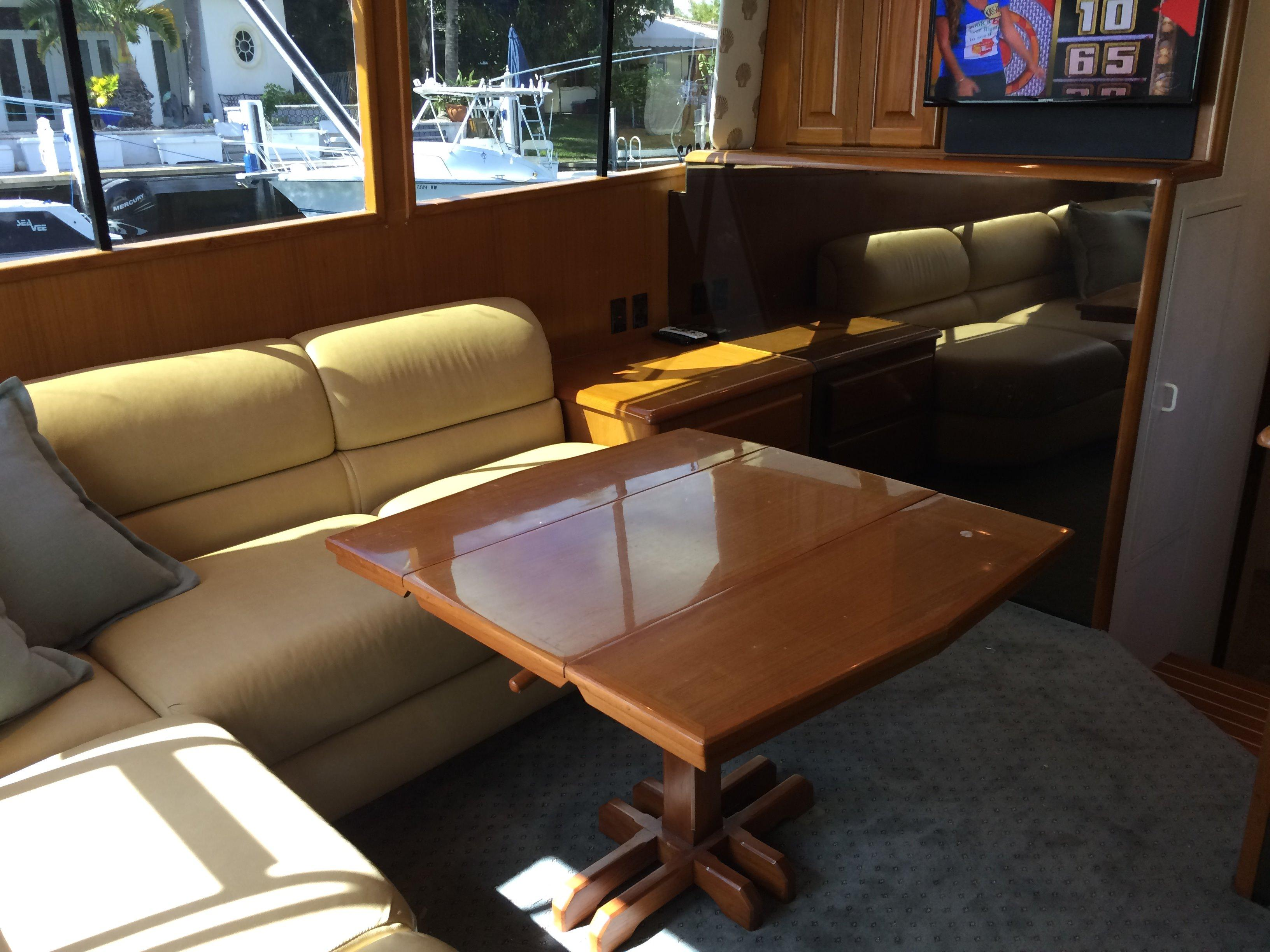 Built In Couch With Hi-Low Table