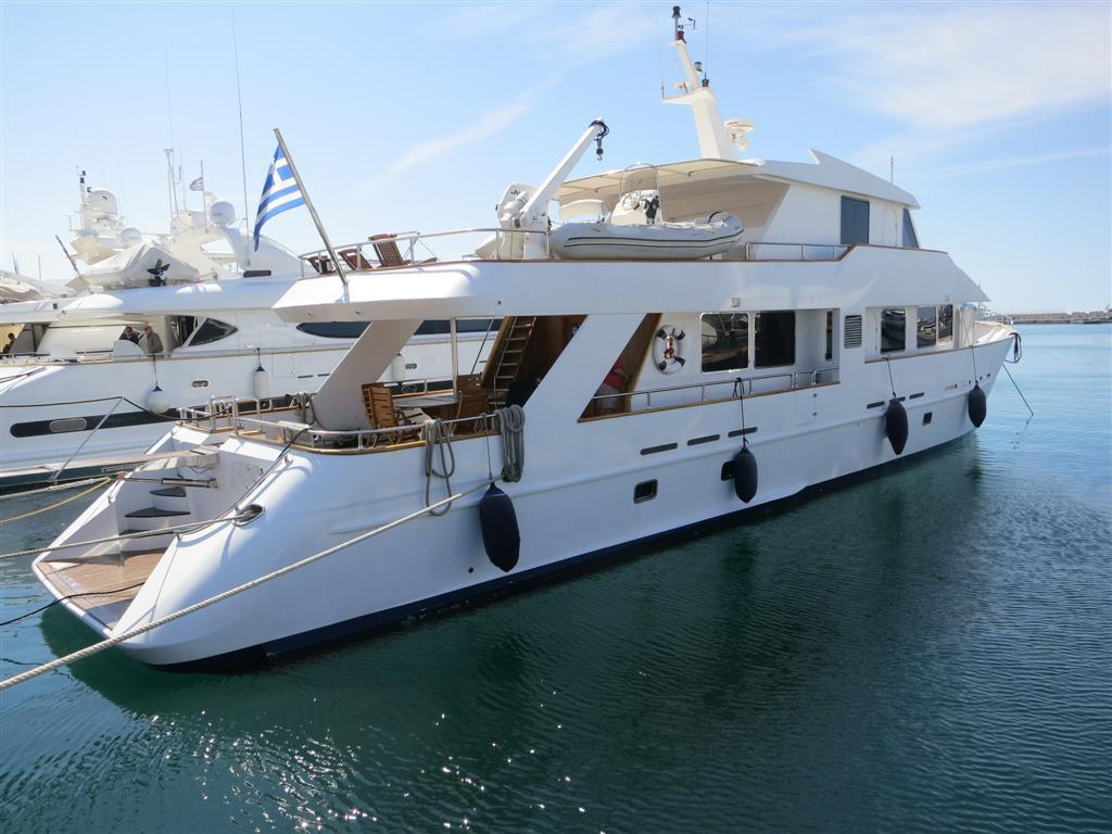 Motor yacht steel for sale in Greece by Alvea Yachts