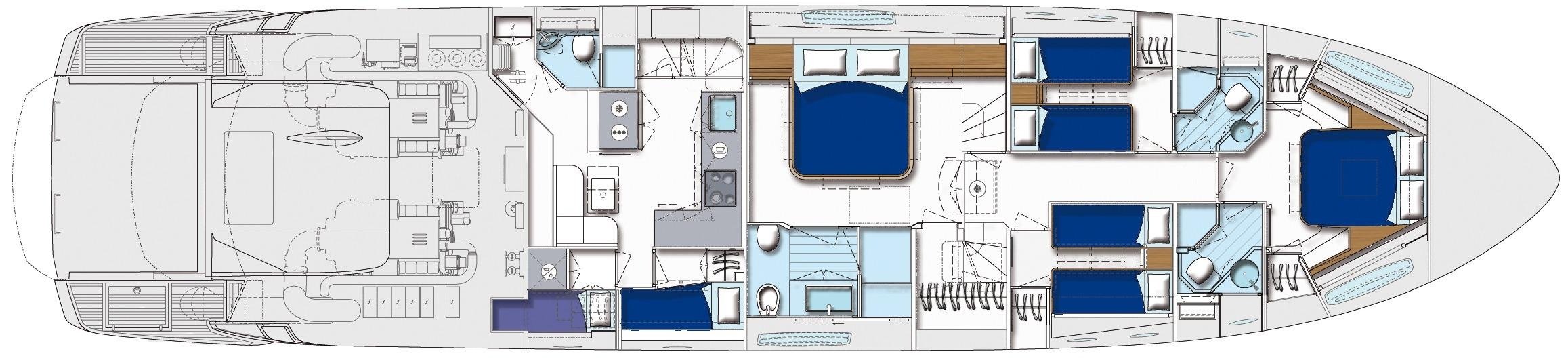 2015 Pershing 82 - Layout
