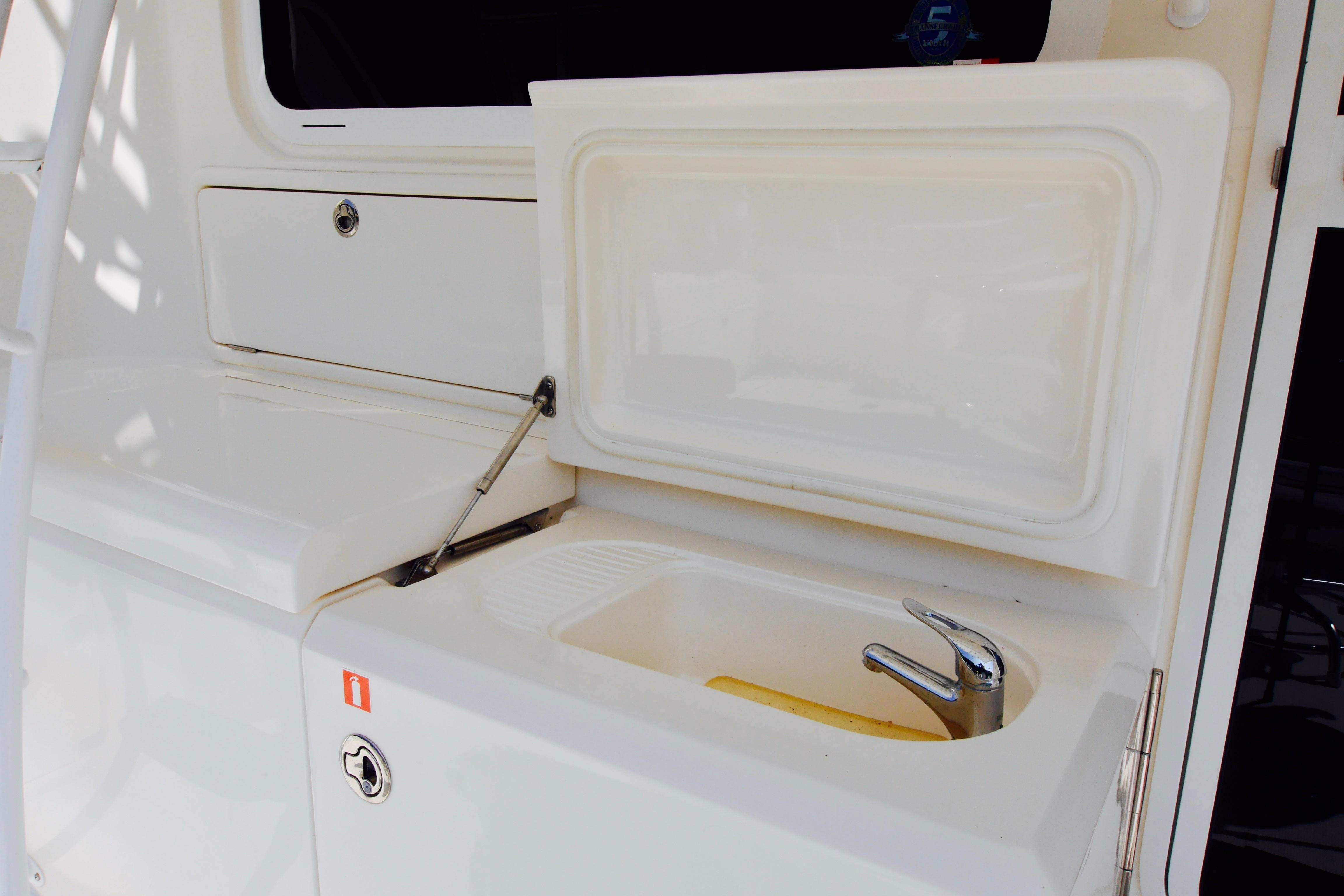 Cockpit Sink and Engine Room Door