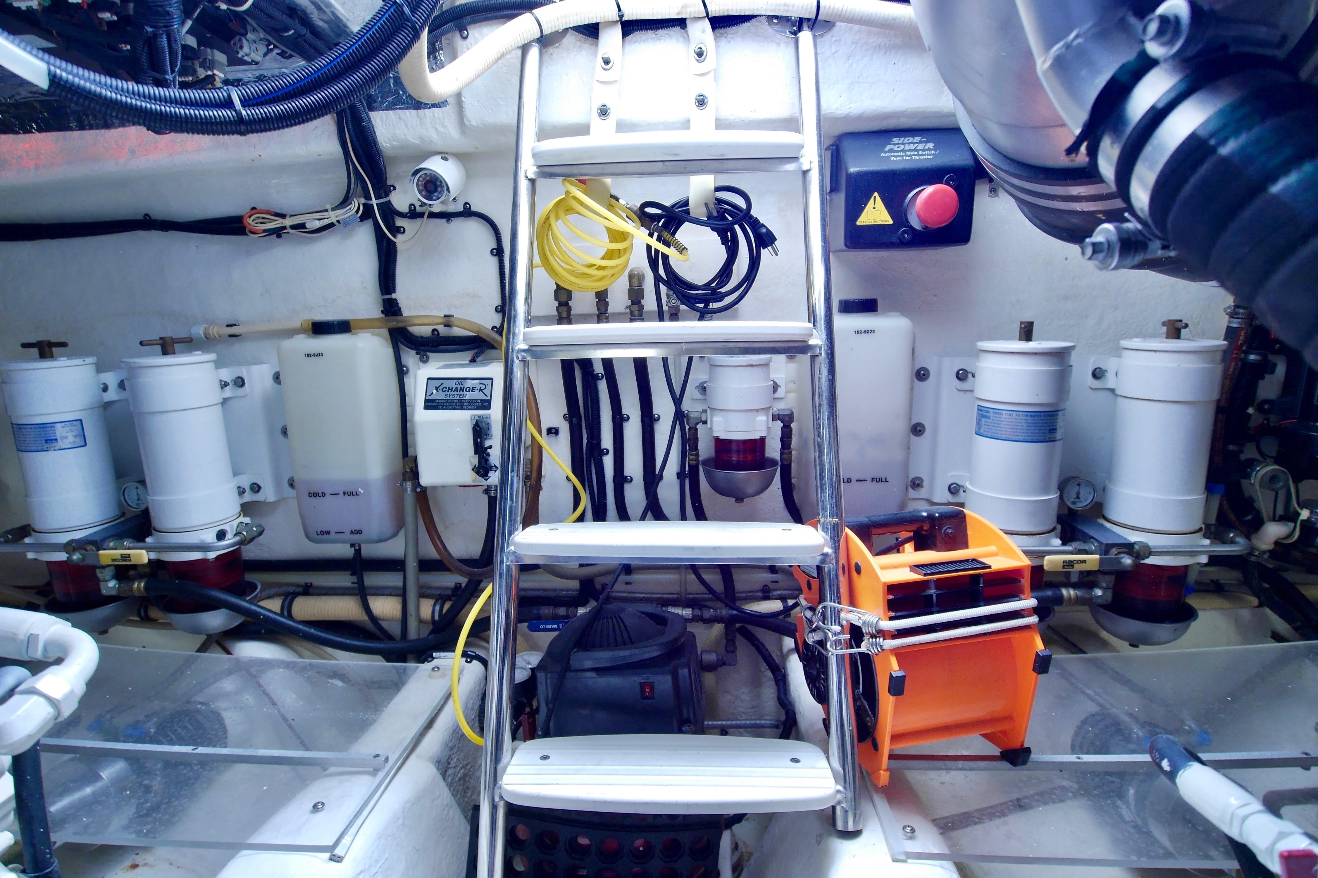 Steps into Engine Room
