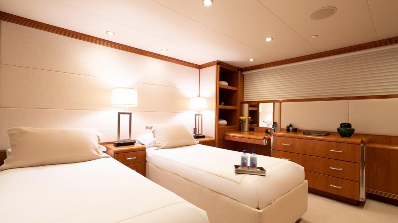 1997 Christensen 155' ''LOON'' -  Starboard Aft Stateroom (Twin beds)