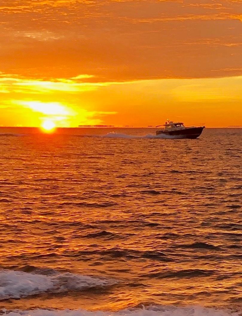 underway sunset