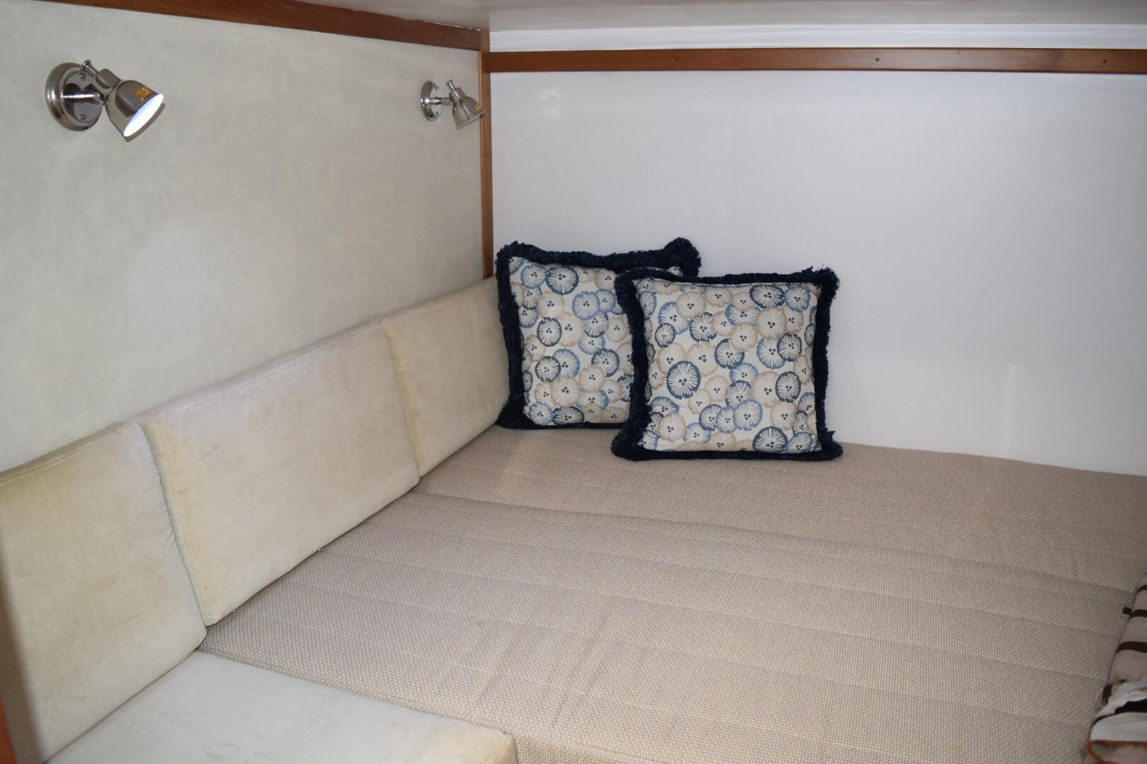 48 ft Sabre 48 SE 3rd Stateroom Bed and Seat