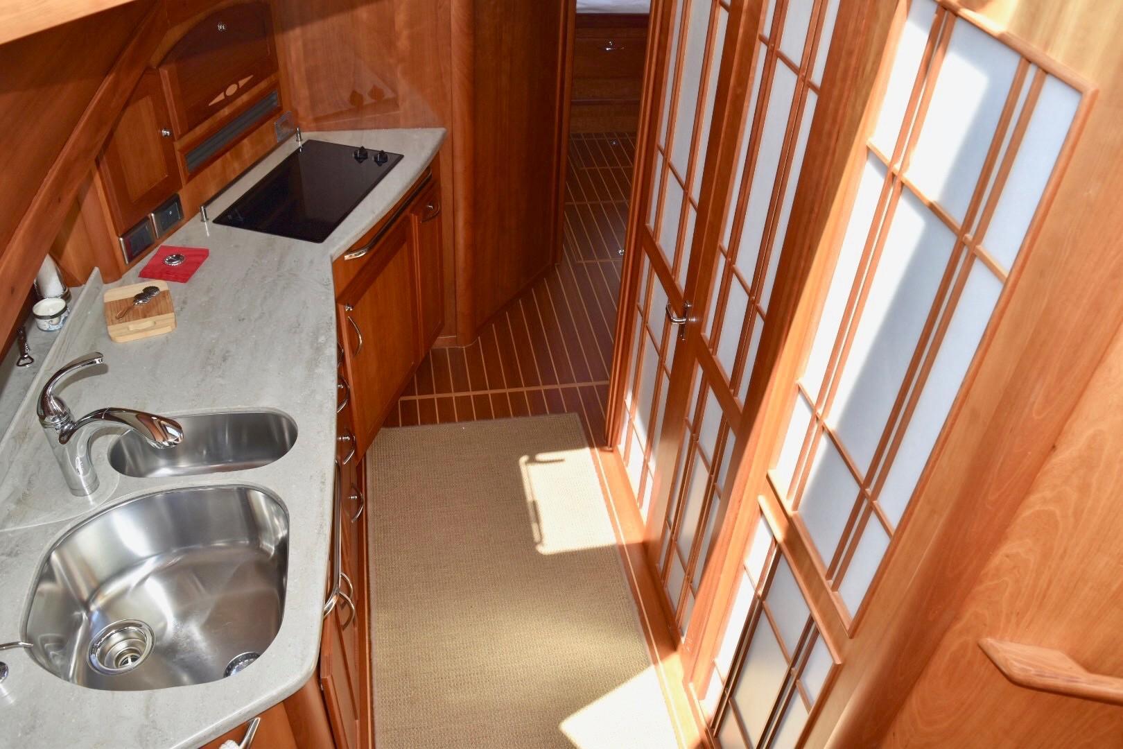 48 ft Sabre 48 SE Galley Companionway