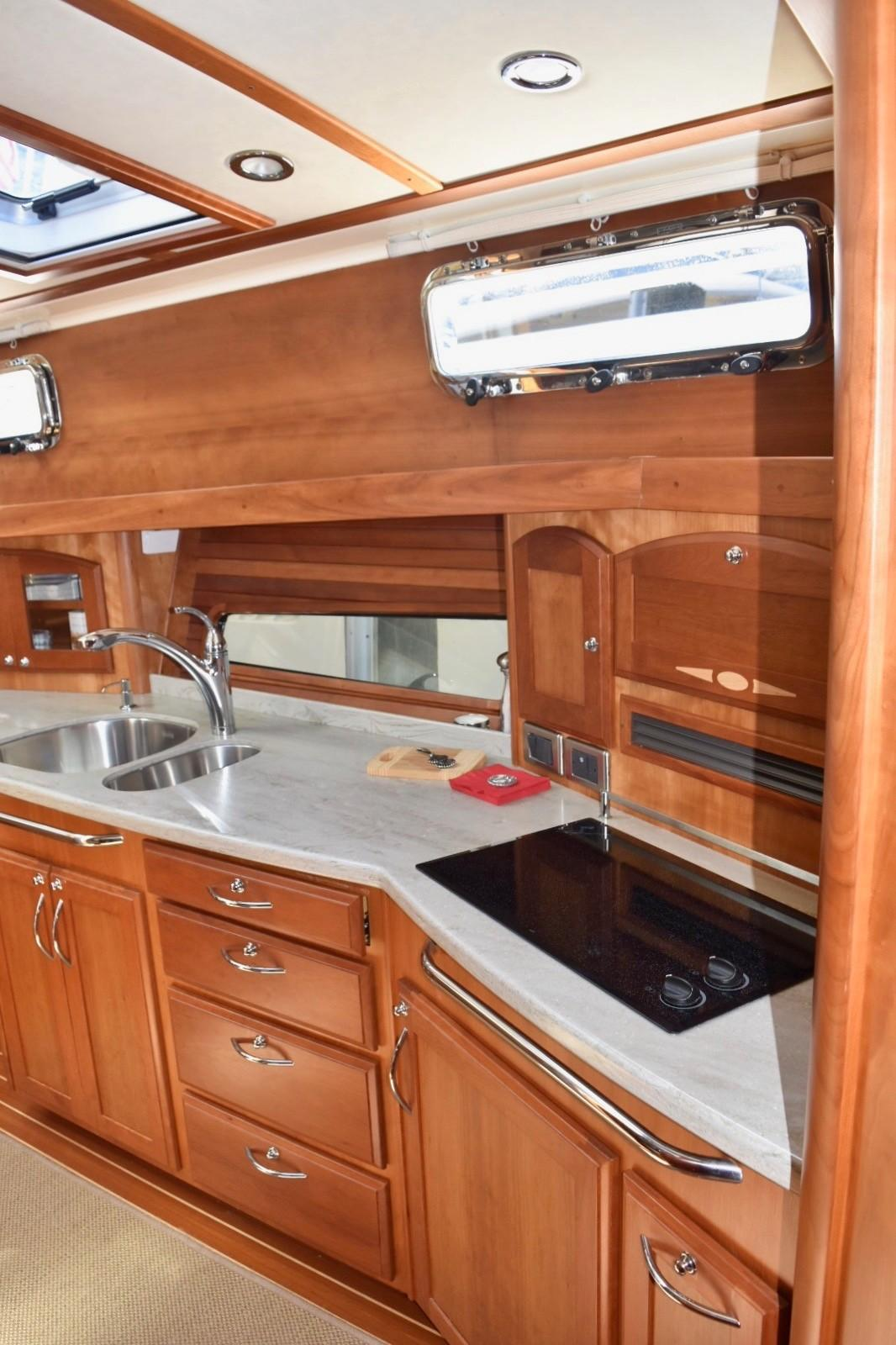 48 ft Sabre 48 SE Galley from Companionway