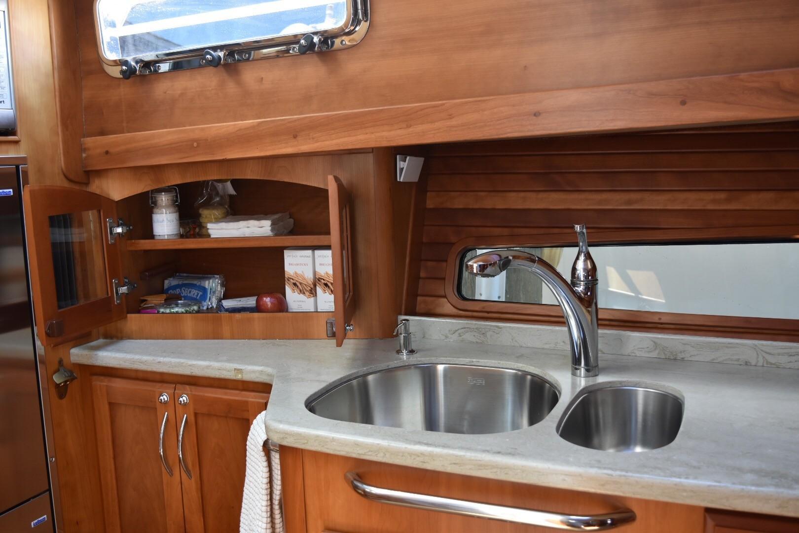 48 ft Sabre 48 SE Galley Storage