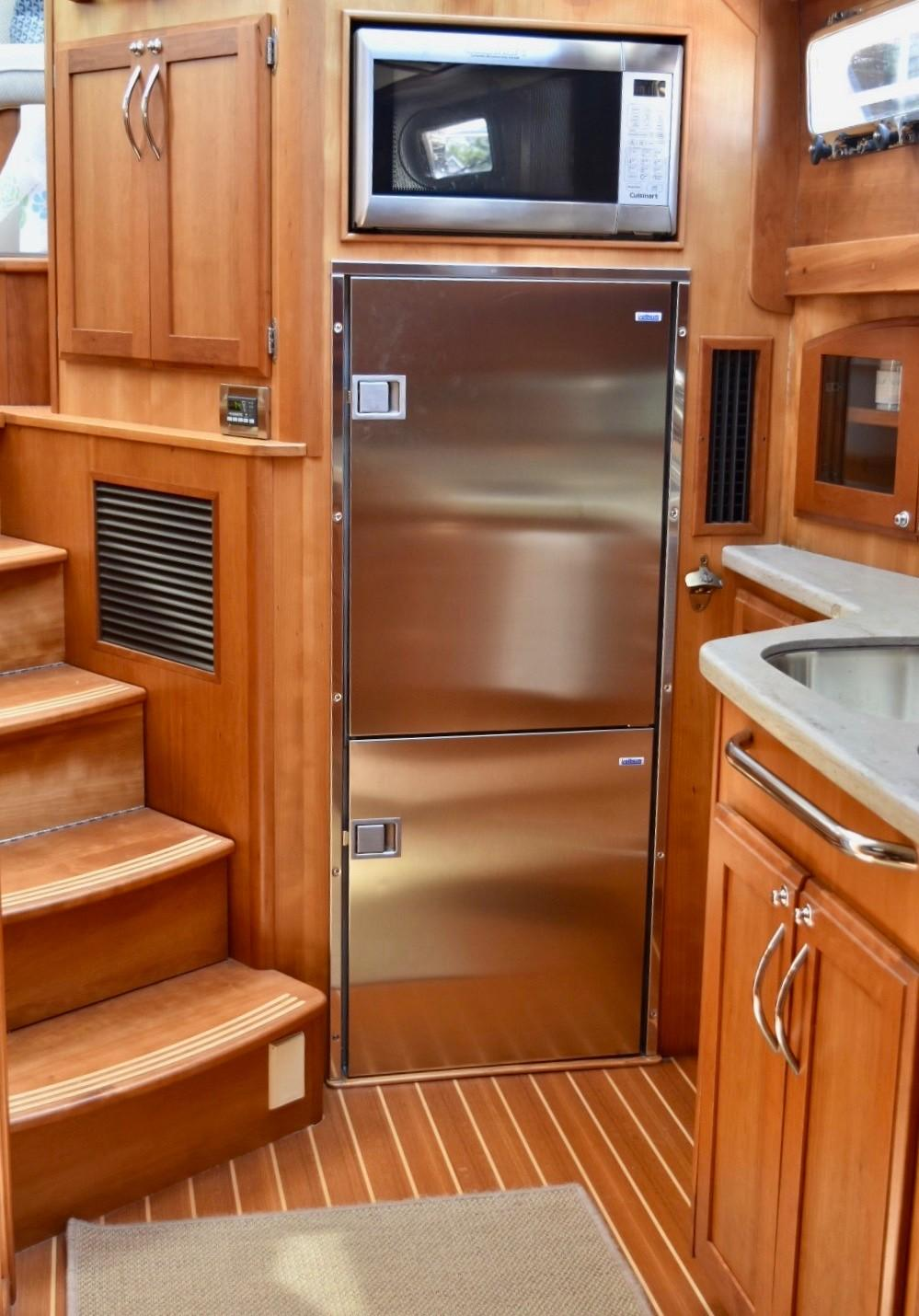 Galley Refrigerator and Microwave