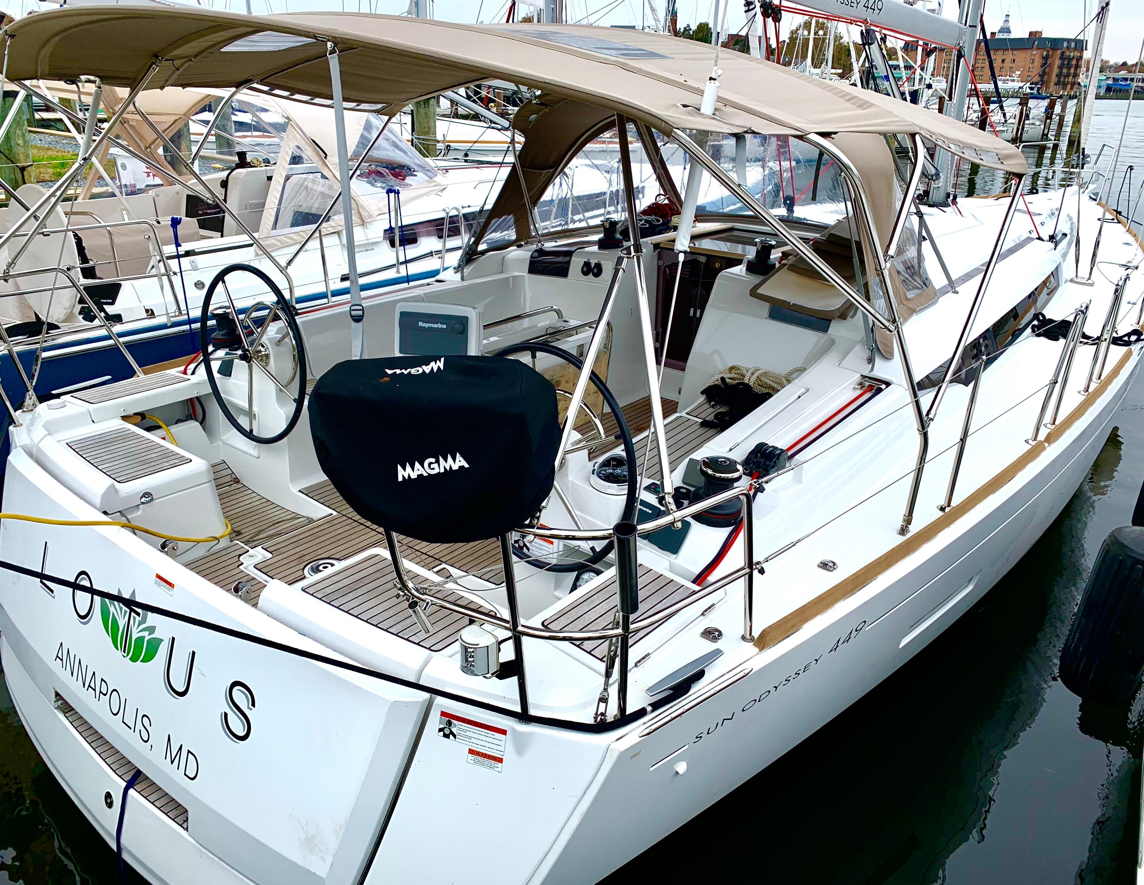 45 ft Jeanneau Sun Odyssey 449 | Executive Yacht Canada