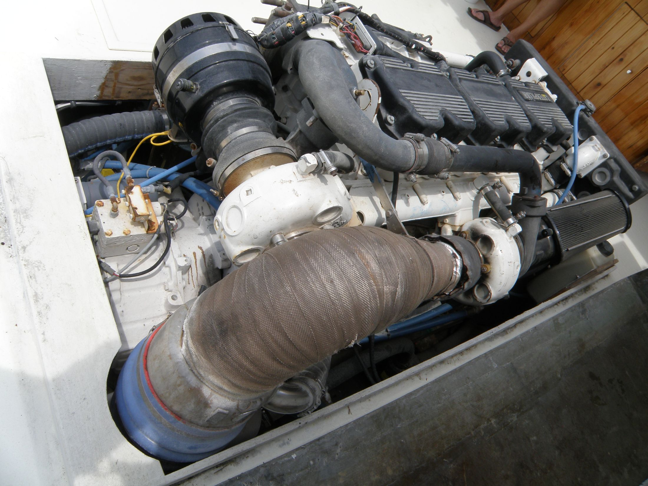 rear of engine