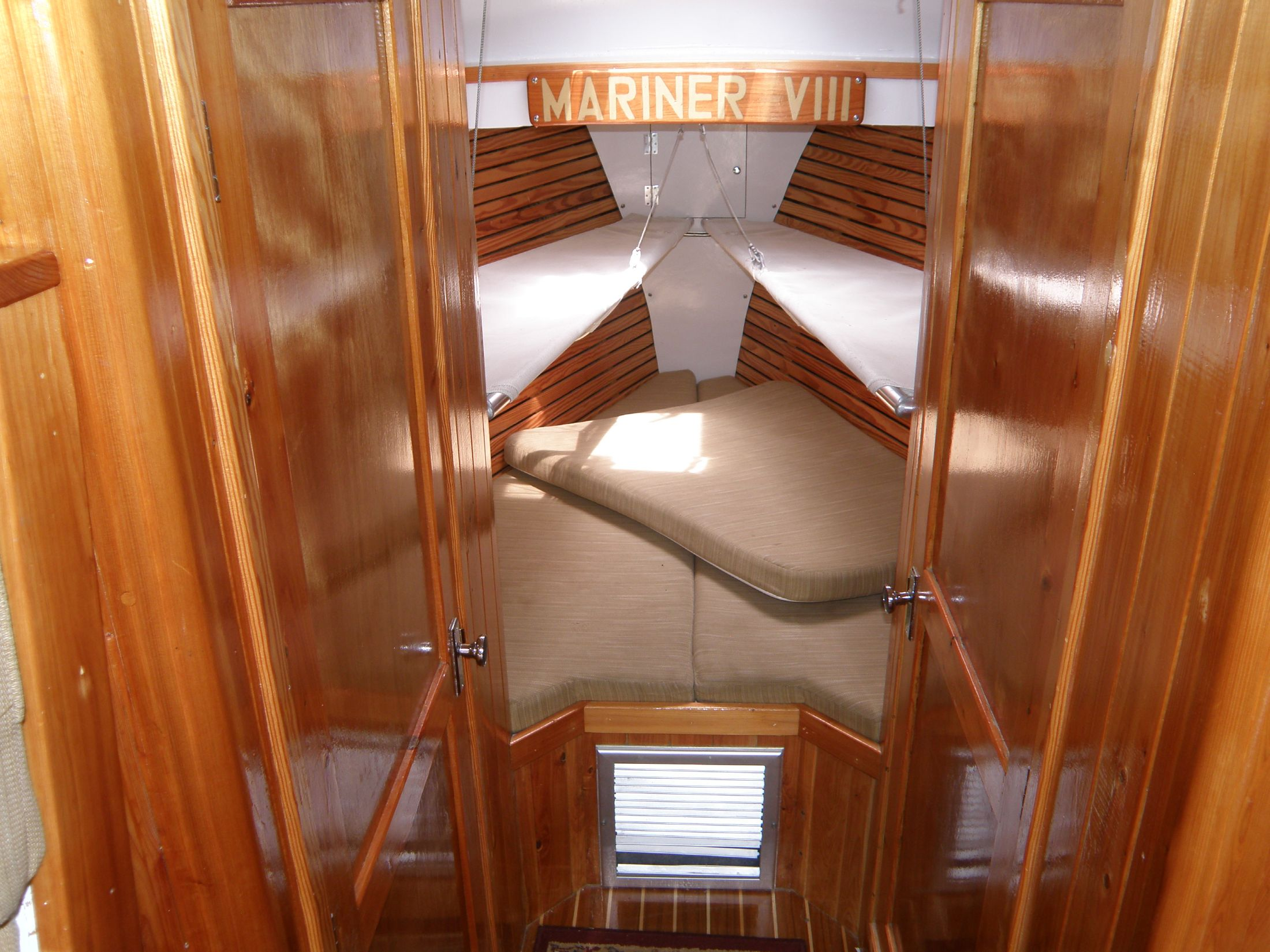 looking into the forward cabin