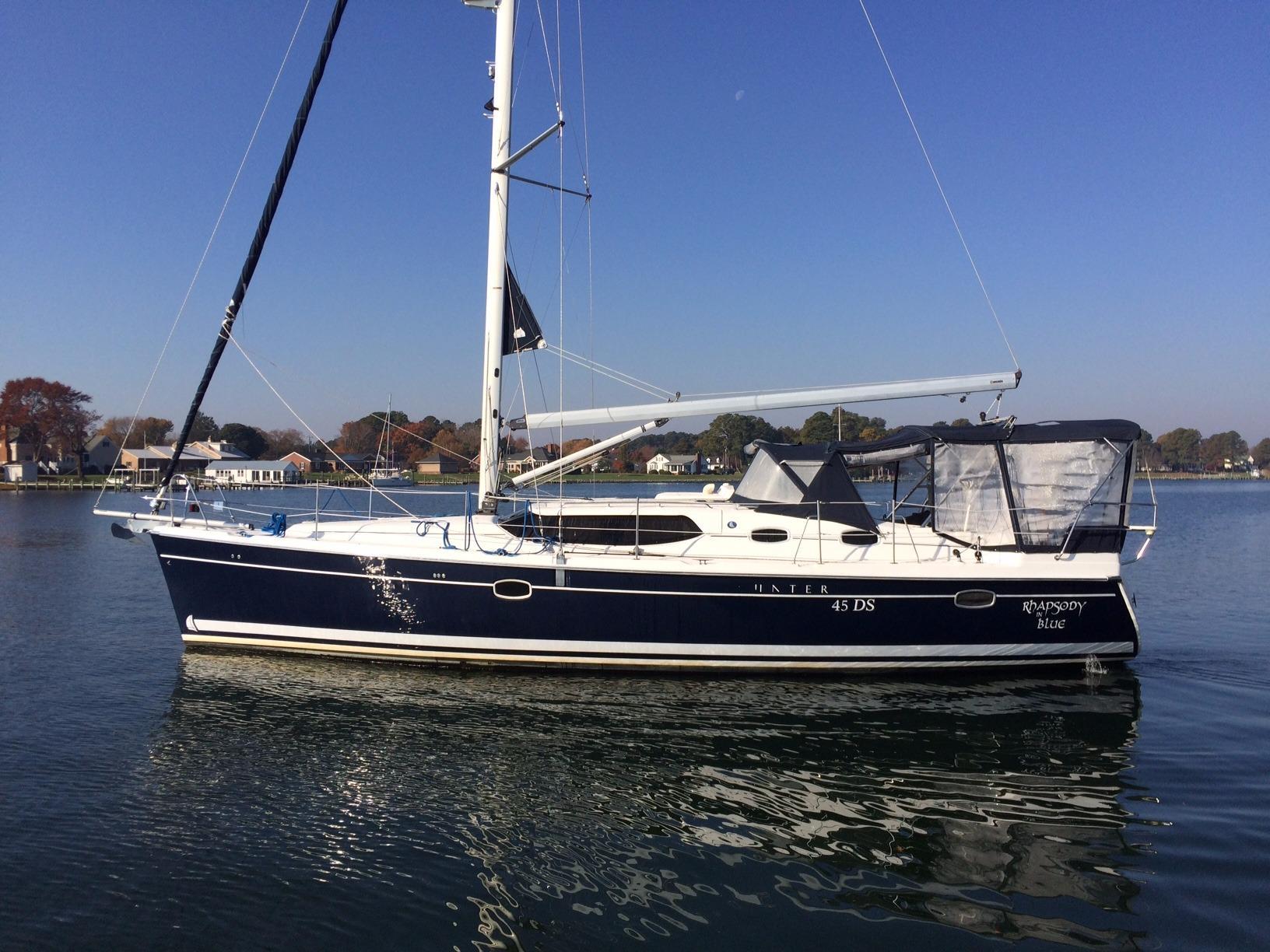 45 hunter rhapsody in blue 2008 unknown denison yacht sales