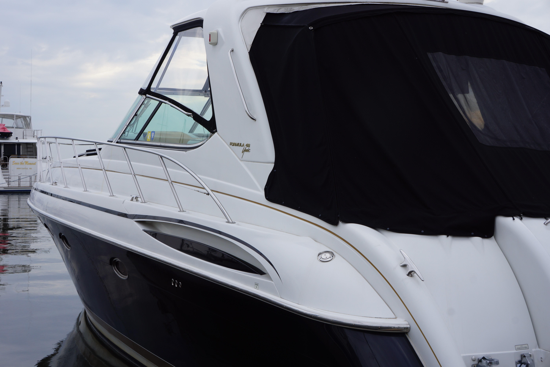 Formula 48 Yacht - Cockpit Canvas Port side