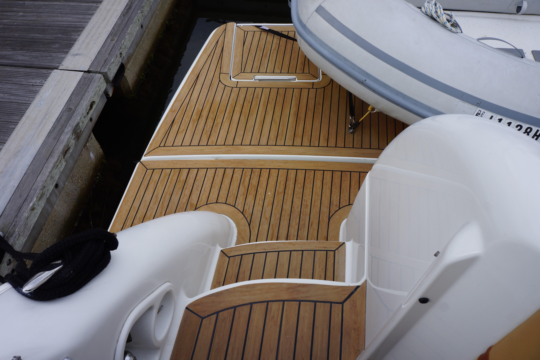 Formula 48 Yacht - Companionway from Swim platform to cockpit