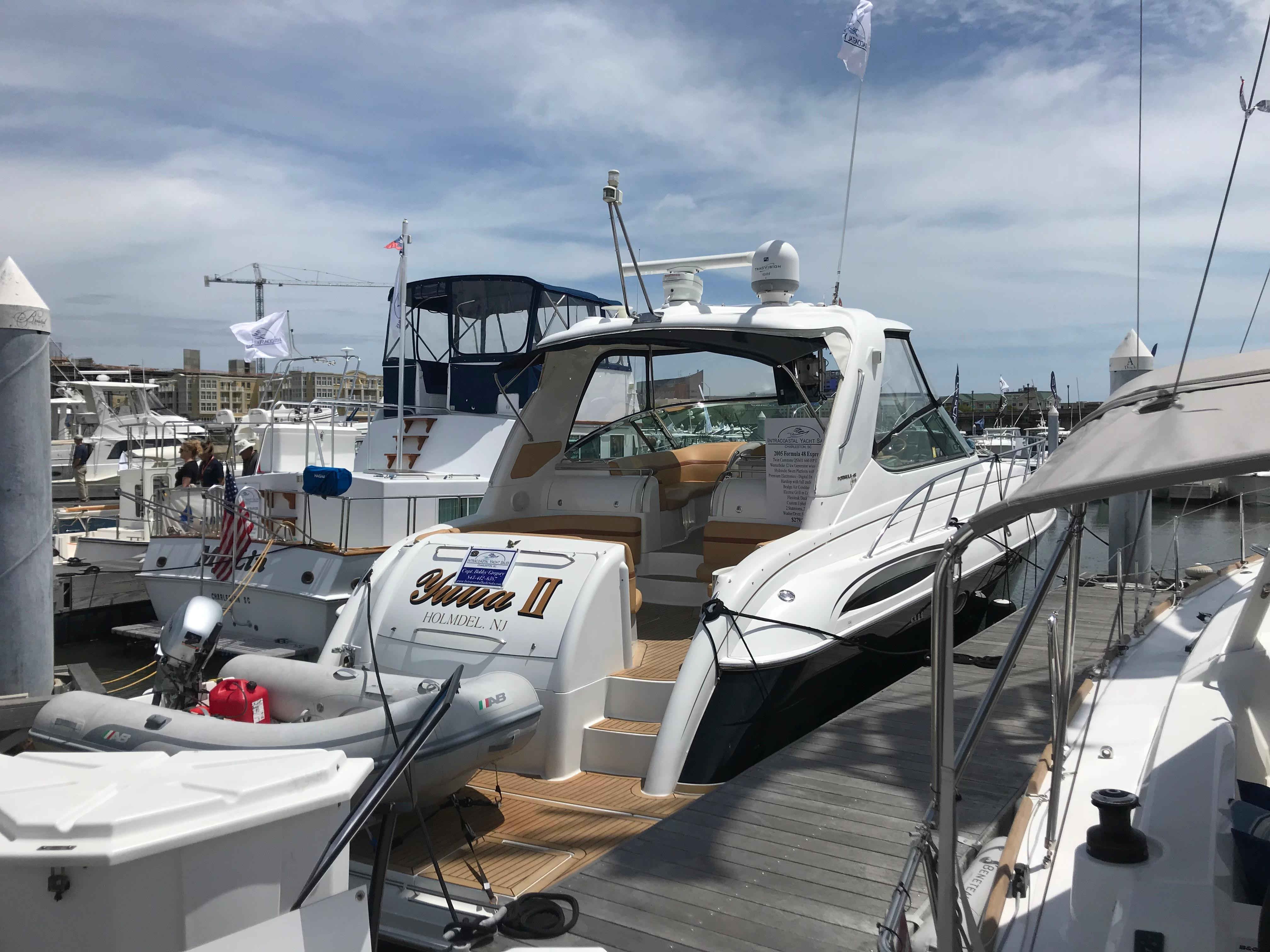 Formula 48 Yacht - Dockside starboard side