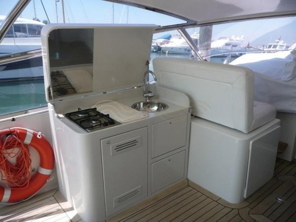 Galley in the cockpit
