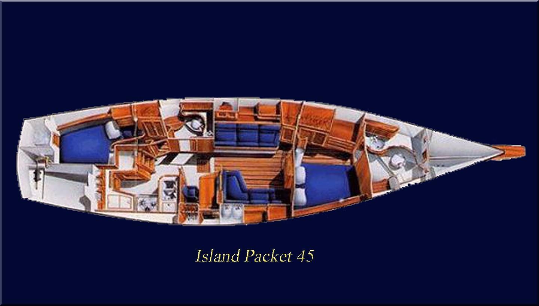Island Packet 45 Layout