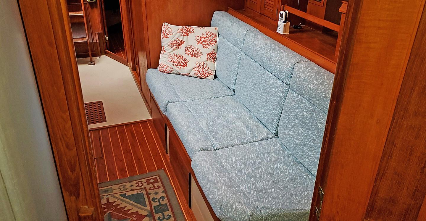 Port Settee from Fwd Cabin