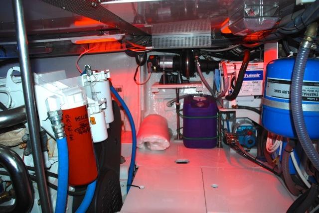 Engine Room Red Lighting