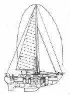 Sailplan Line Drawing