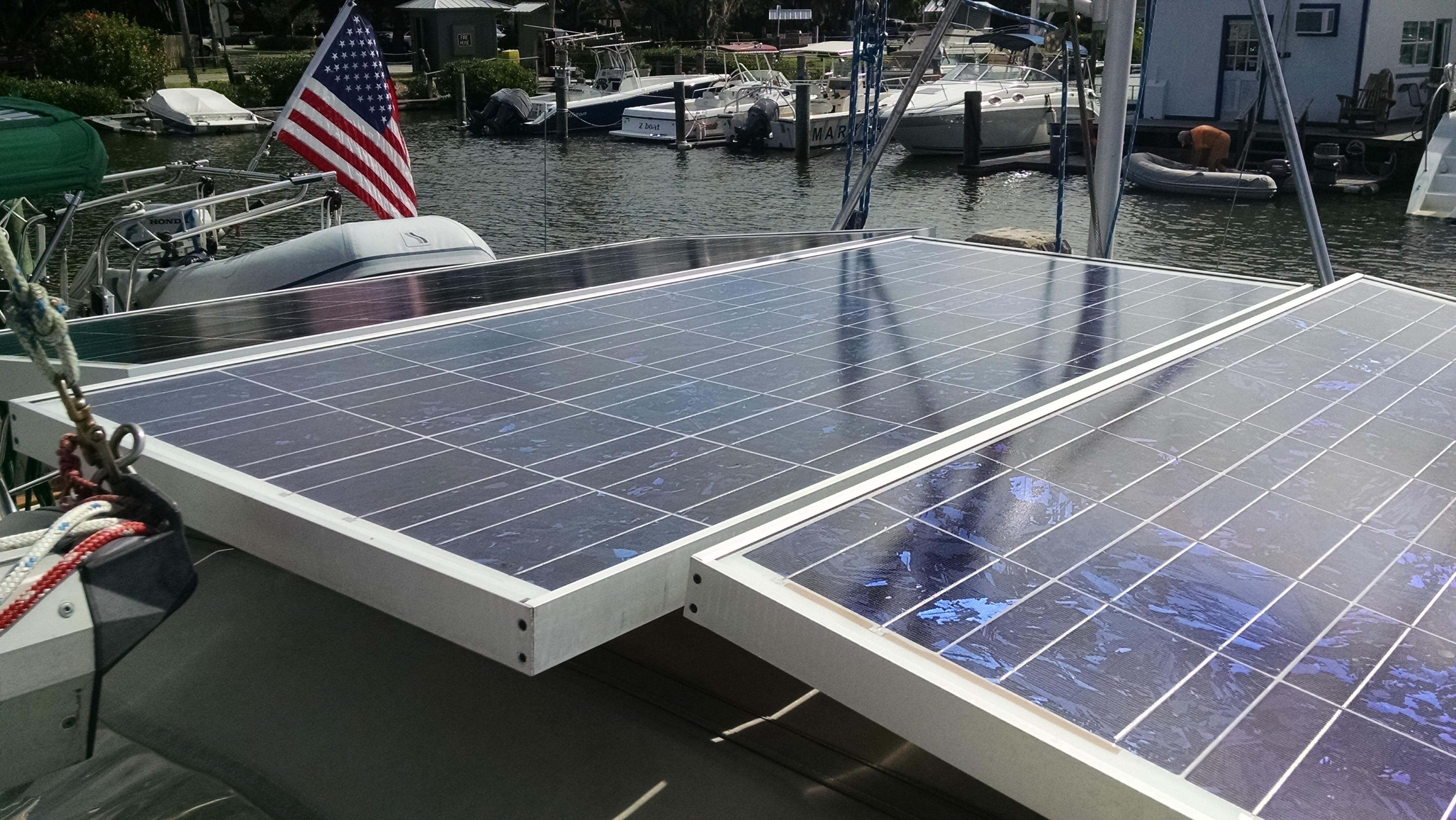 Triple Solar Panels Over Bimini