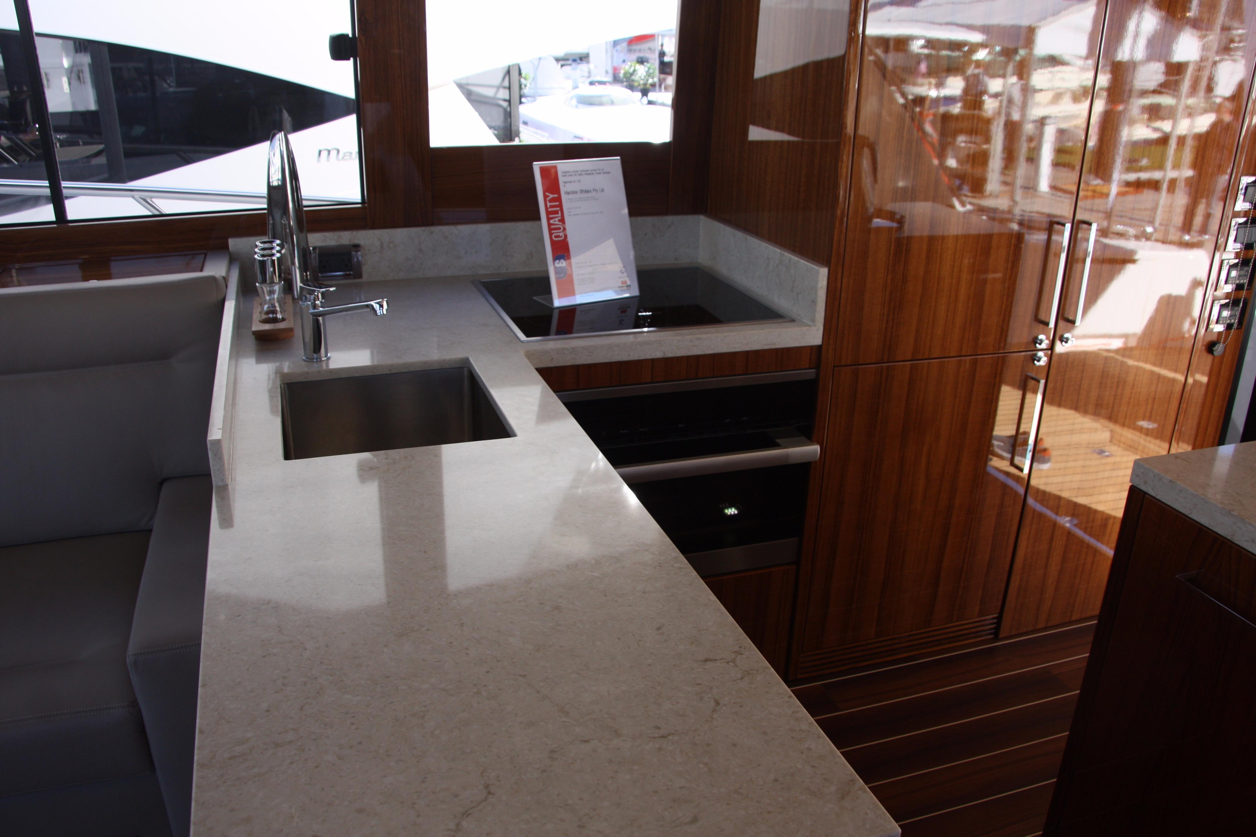 Galley Counter with Sink and Dual Burner Cooktop