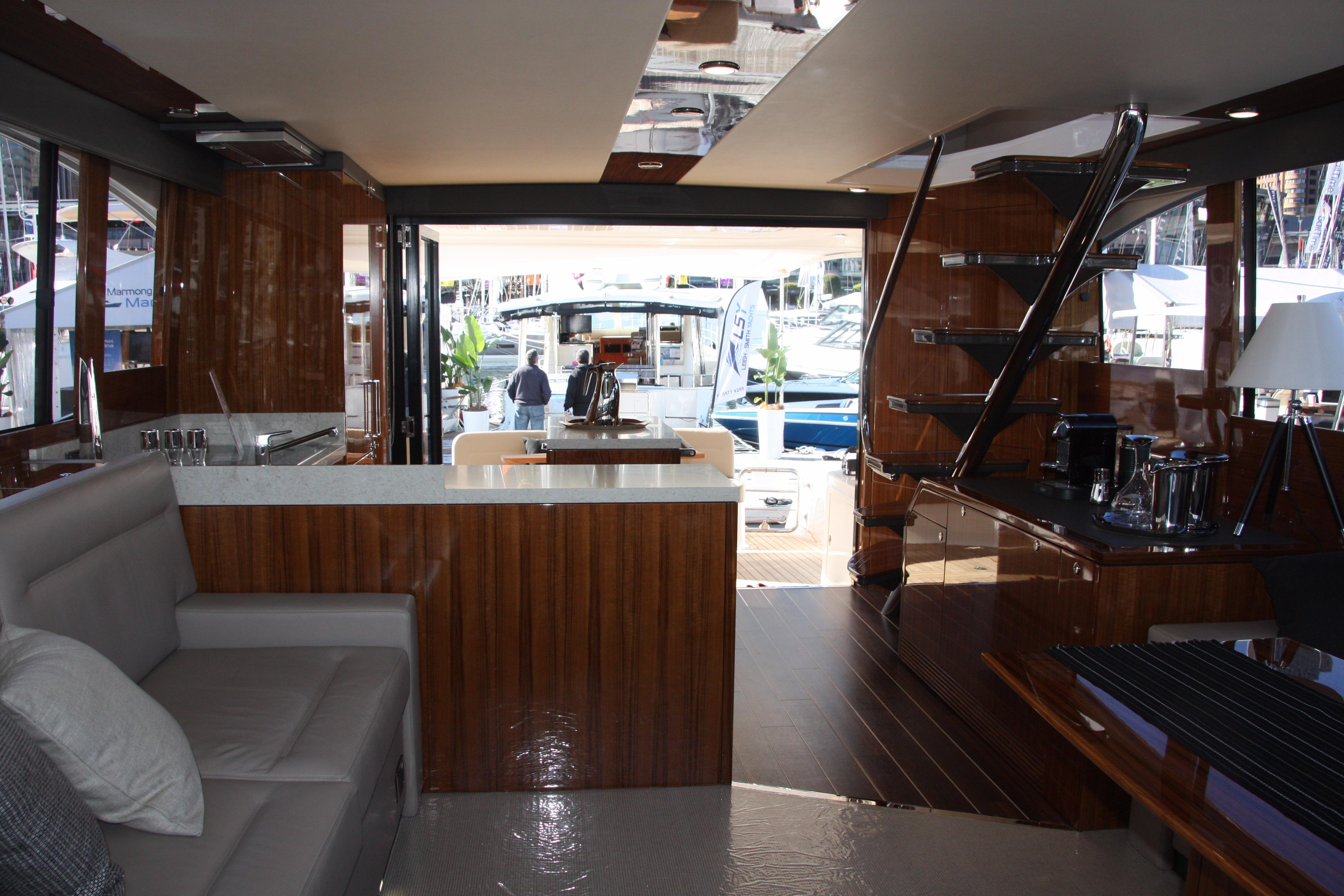 View of Salon and Galley Looking Aft