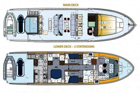 Top Deck 65 layout 3 Cabins
