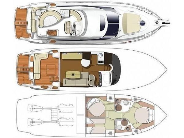Cranchi Atlantique 50 - Layout