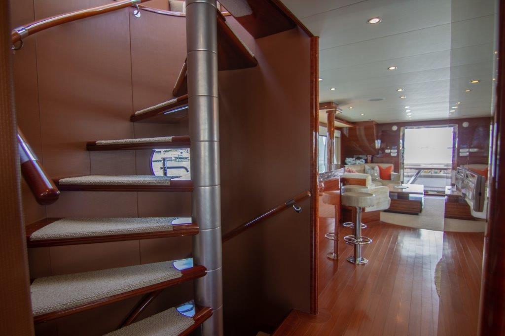 Inside Stairwell to Bridge