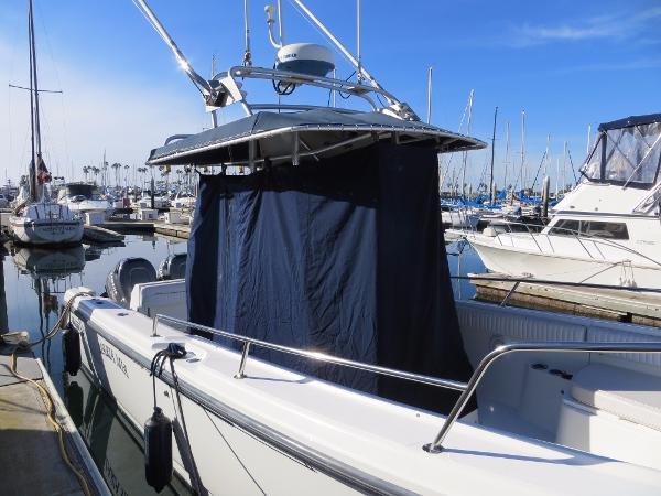 Boston Whaler docked