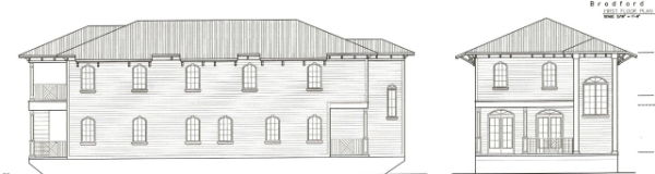 House Boat- Line Drawing