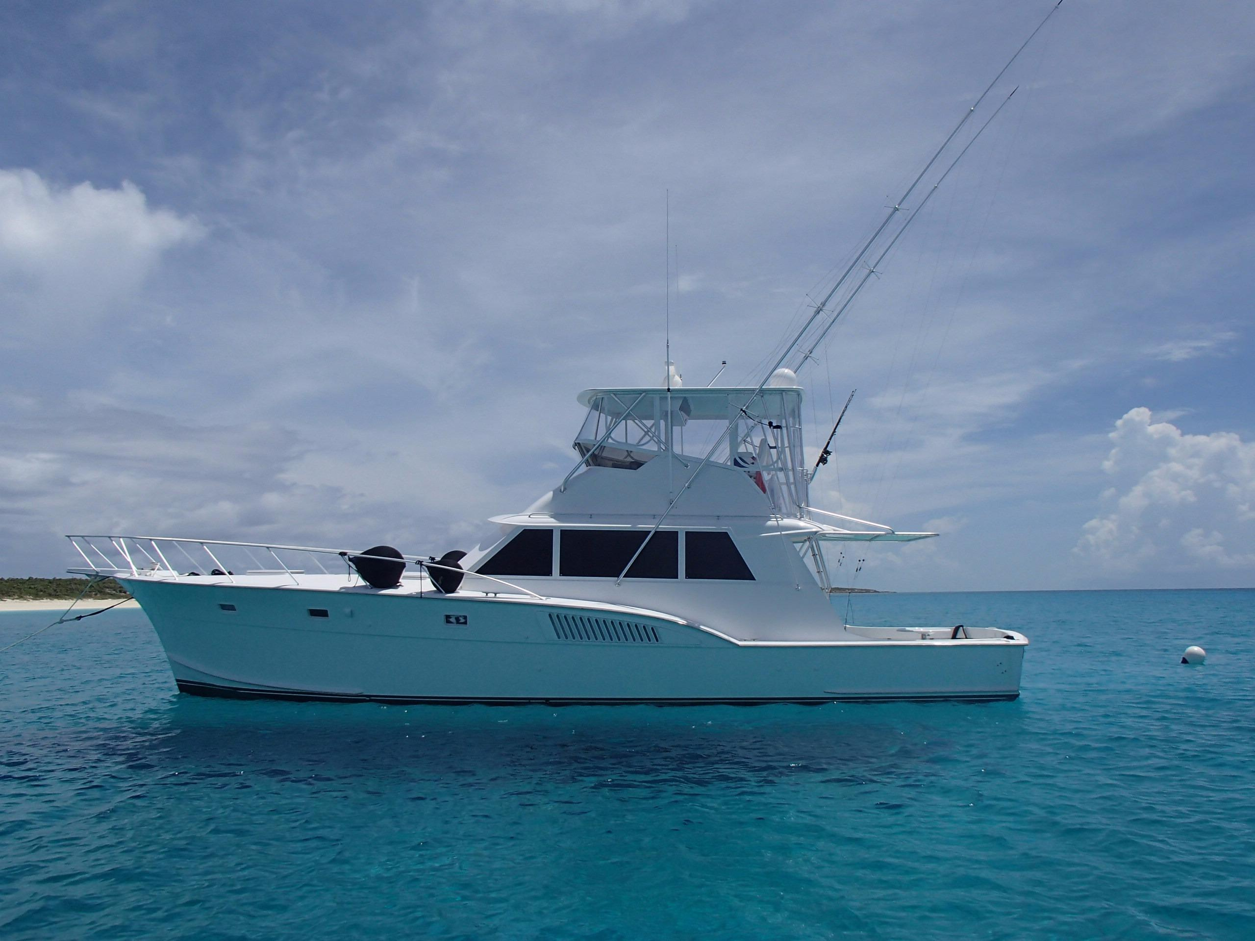 Used hatteras yachts model for sale sportfish for Sport fishing boats