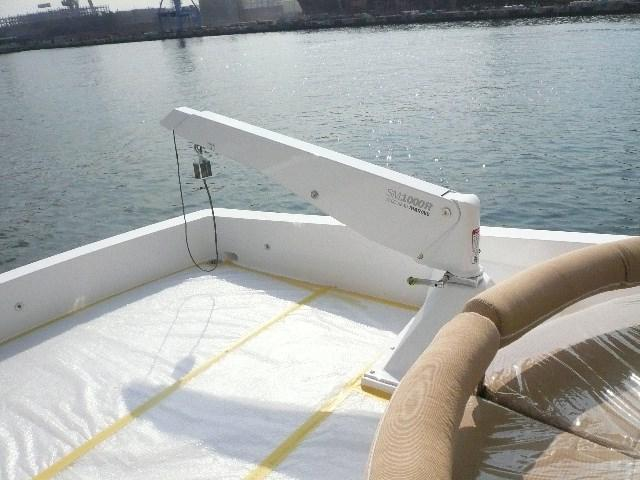 Crane Davits on Aft Flybridge