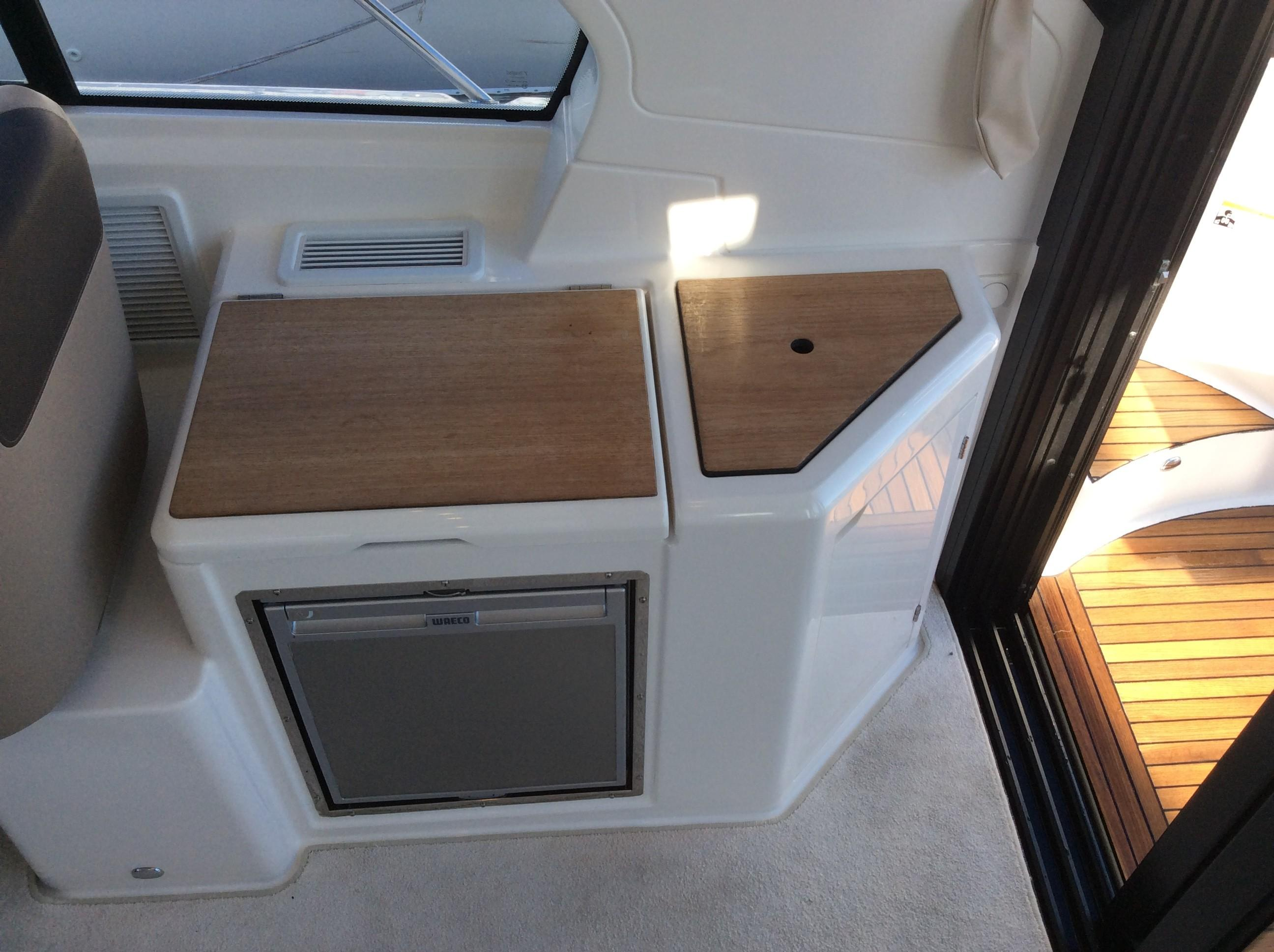 Cockpit Refrigerator, Grill and Sink - Closed
